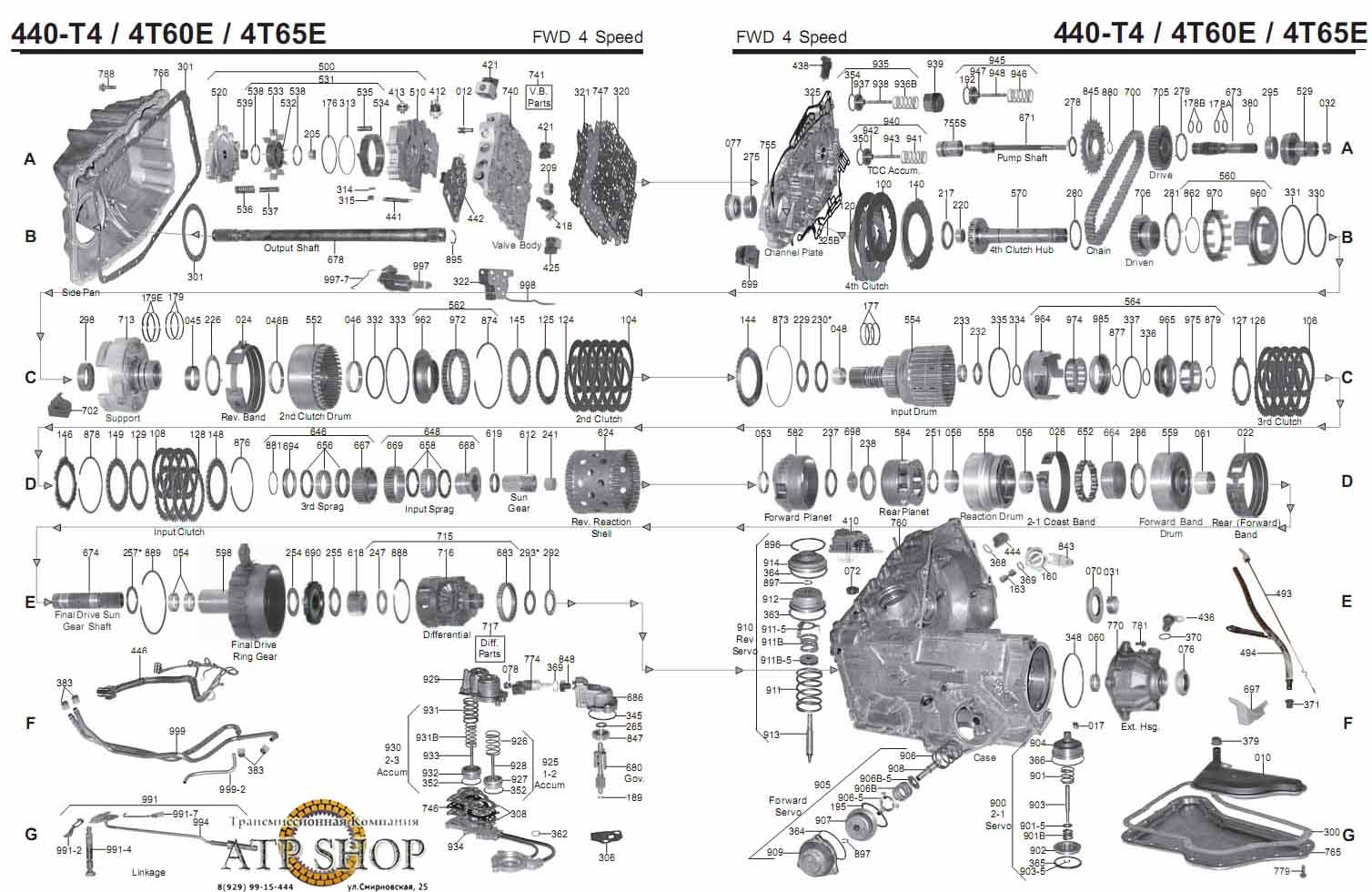 4t60e Transmission Schematic on 1992 Honda Engine Diagram