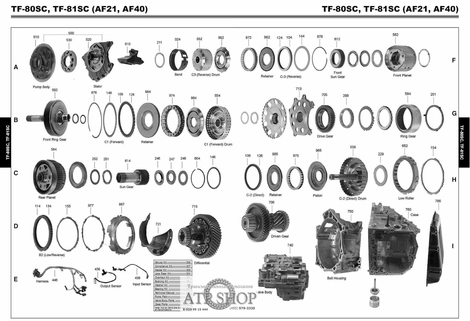 a518 transmission diagram